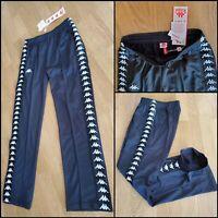 Kappa Track Pants Medium Regular Fit Black NWT Soccer Banda Astoria Pockets