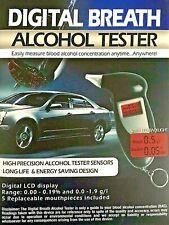 High Precision Alcohol Breath Tester Digital LED Backlight / Keychain NEW
