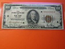 1929 $100 T1 National Currency  FR 1804-1 Federal Reserve Bank of New York VF++