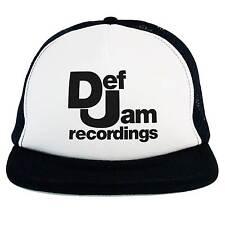 Cappello Def Jam, Trucker Cap nero, musica Rap Hip Hop anni 80 90 old school