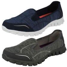 Zapatos planos de mujer textil de color principal azul