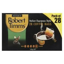 Robert Timms Italian Espresso Style Coffee Bags 28 Pack 160g