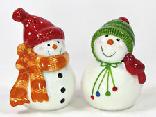 St. Nicholas Square SNOW DAYS Salt & Pepper Shaker Set Snowman Christmas MIB