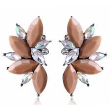 1 Pair Fashion Elegant Women Crystal Rhinestone Ear Stud Dangle Drop Earrings