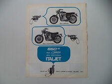 advertising Pubblicità 1970 MOTO ITALJET GRIFON 650/CALIFORNIA 650
