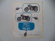 advertising Pubblicità 1970 MOTO ITALJET GRIFON 650/CALIFORNIA 650