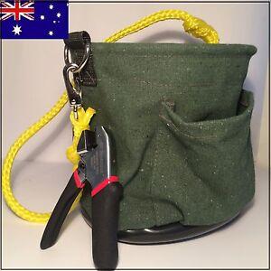 ISGM,Telstra,NBN,Optus Pole rope bag Tool Bag & 3m Scotchlok crimper loop a line