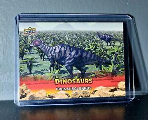 2015 Upper Deck Dinosaurs Prosaurolophus Extinction Red Parallel #28 Card