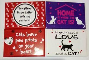 Cat Theme Fridge Magnet 7.9 x 5.4cms (4 Choices)