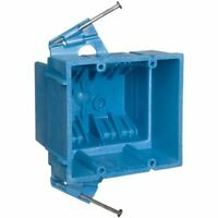 Carlon BH235A Switch/Outlet Box, New Work, 2 Gang, 3-7/8-Inch Length by 4-1/8-In