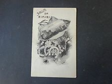 CARTOLINA SALUTI DA RIMINI VIAGGIATA DEL 1913 SUBALPINA AAA
