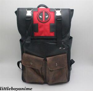Marvel Deadpool 2 Backpack zipper pu School bag shoulder bag Men's Leisure bag