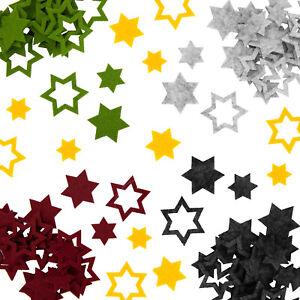 24 Filz Sterne Weihnachtsdeko Tischdeko Weihnachten 3 Motive - Farbe wählbar