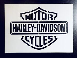 Harley Davidson A3 LARGE Stencil Logo Airbrush Logo Sign Wall Art Deco Crates