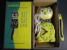 60s ORIGINAL YELLOW JEWELED ELECTRIC KIT CAT KLOCK-KAT CLOCK BOX FELIX BAD MOTOR