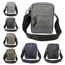 Unisex Nylon Cross Body Shoulder Bag Travel Passport Purse W/ Mesh Front Pocket