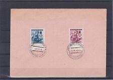 1942 Wohltätigkeitsausg. Rotes Kreuz auf Kuvert mit 2 versch. Sonderstempel