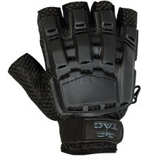 Valken V-Tac Black Tactical Half Finger Paintball Gloves Extra Small Sm Xs New
