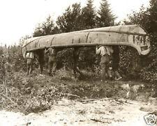 Giant Hudson Bay Company Canoes Vintage Canoeing Portaging Birch Bark Ojibwa
