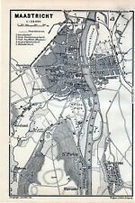 Antique map plattegrond plan Maastricht Sint-Pietersberg Mount Saint Peter 1904