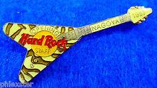 NAGOYA JAPAN *OPENING STAFF ZEBRA STRIPE FLYING V GUITAR 1997 Hard Rock Cafe PIN