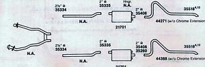 1968 MERCURY COUGAR DUAL EXHAUST SYSTEM, ALUMINIZED, 302 ENGINES
