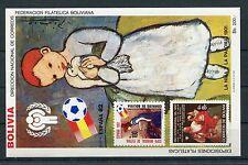 Bolivien Block 132 postfrisch / Fußball - Picasso ........................1/1696