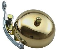 Crane Bell Suzu Brass Bicycle Bell With Steel Band Mount - Gold, 5.5 Cm