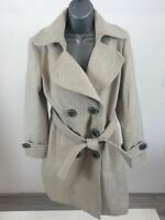 WOMENS SOON BEIGE SOFT TOUCH LONG TRENCH JACKET SIZE UK 12