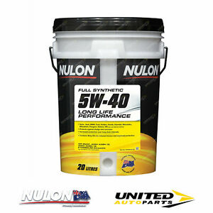 NULON Full Synthetic 5W-40 Long Life Engine Oil 20L for AUDI A6 Brand New