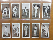 OGDENS - PROMINENT CRICKETERS of 1938 - Complete Set of 50 - 1938  - EX