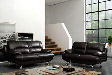 Samara Leather 3 + 2 Sofa Suite in Black