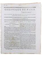 Chronique de Paris 1792 Marie Antoinette Condorcet Naissance de la Convention