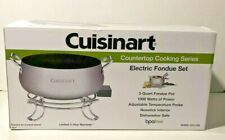 Cuisinart Electric Fondue Set Maker CFO-3SS Countertop Cooking Melting Pot
