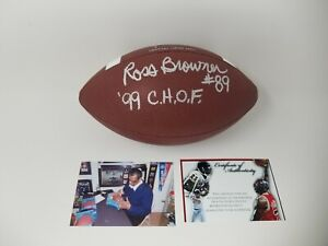 Ross Browner Autographed SIGNED Football Notre Dame W/ Proof 99 CHOF Auto Irish