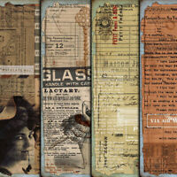 4X Vintage Paper Pad Palace Scrapbooking Photo Album Junk Journal Card Decor DIY