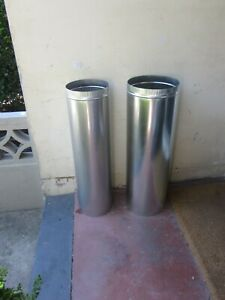 Jetmaster open fire flue, stainless (250) and galvanised (300) pickup 2024