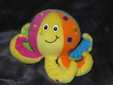 """TOLO BABY CHIME STUFFED PLUSH RATTLE TOY OCTOPUS SEA CREATURE 4"""" 8"""""""