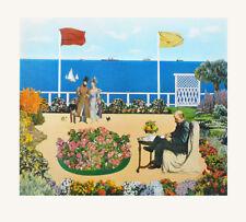 Silvia Quandt Kunstdruck Poster Bild Lichtdruck Besuch auf Monets Terrasse 51x50