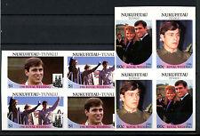 Nukufetau 1986 Royal Wedding MNH Imperf Blocks Set #A61365