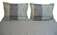 DaDa Bedding Elegant Soft Paisley Floral Flat Bed Sheet with Pillow Cases Set