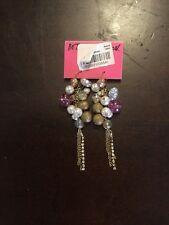 Betsey Johnson Dangle Ball  Earrings