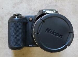 Nikon Coolpix L340 20.2 MP Digital Camera 28x Optical Zoom Black Package (B203)