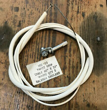 Sturmey Archer MK1 Twistgrip Gear Cable with Adjuster. HSJ103. White. *NOS