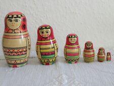 Russische Matroschka 6-10,5cm hoch 2-2 5 teilig handgemalt
