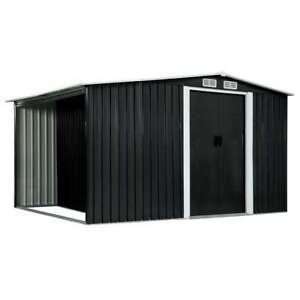 Outdoor Storage House Tool Equipment Shelter Steel Garden Shed With Sliding Door