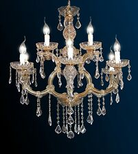 Lampadario classico 6+3 luci Metallo cristallo oro Maria Teresa DESIGN SWAROVSKY