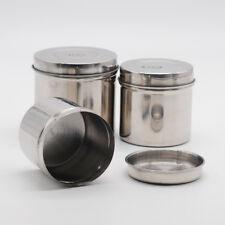 Lab Item Dental Stainless Steel Cotton Ball Gauze Tampon Jar Holder Dispenser