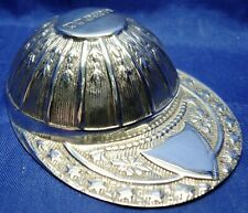 SOLID SILVER NOVELTY JOCKEY CAP CADDY SPOON BY WHITEHILL SILVER SHEFFIELD 1989