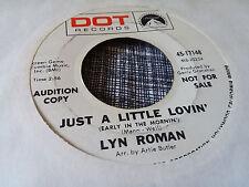 Lyn Roman 45 When I was Five/Just a Little Lovin' Dot Promo 17148 Northern Soul
